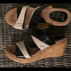 B.O.C leather wedge sandal